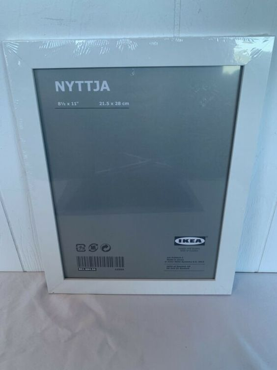 New Ikea Nyttja White Picture Frame 8 75 X 11 Sealed Discontinued Frames Ebay Link In 2020 White Picture Frames Picture Frames White Picture