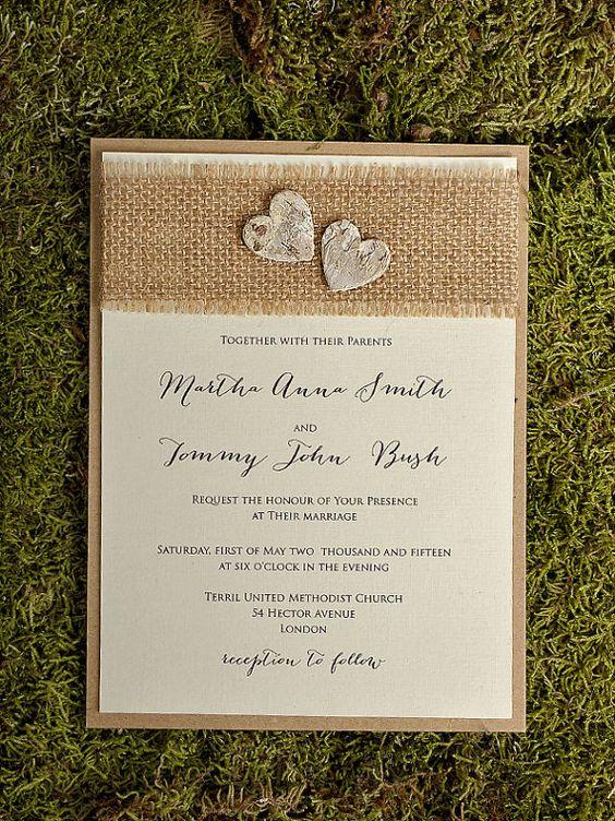 Rustic  Wedding Invitation County Style Wedding by DecorisWedding, $5.50