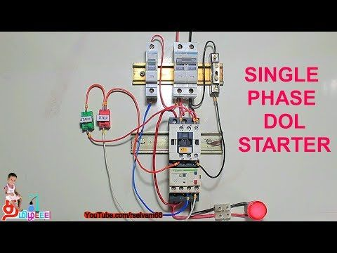 Single Phase Dol Starter Dol Starter Connection In Tamil English Youtube Dol Single Starter