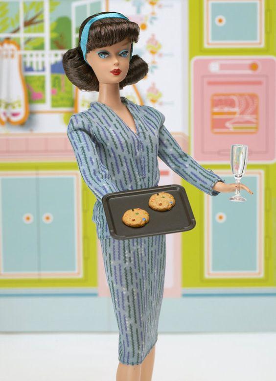 Barbie Kitchen 5 x 7 Blank Greeting Card by nicolehouff on Etsy