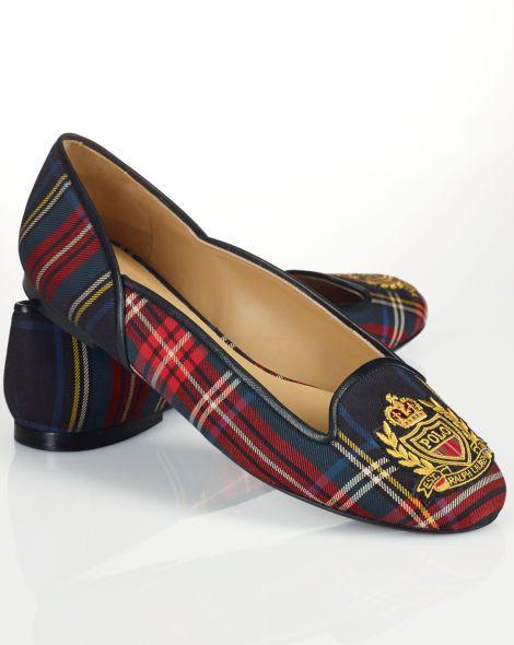 Tartan Crest Flat - Polo Ralph Lauren Ballets and Flats - RalphLauren.com