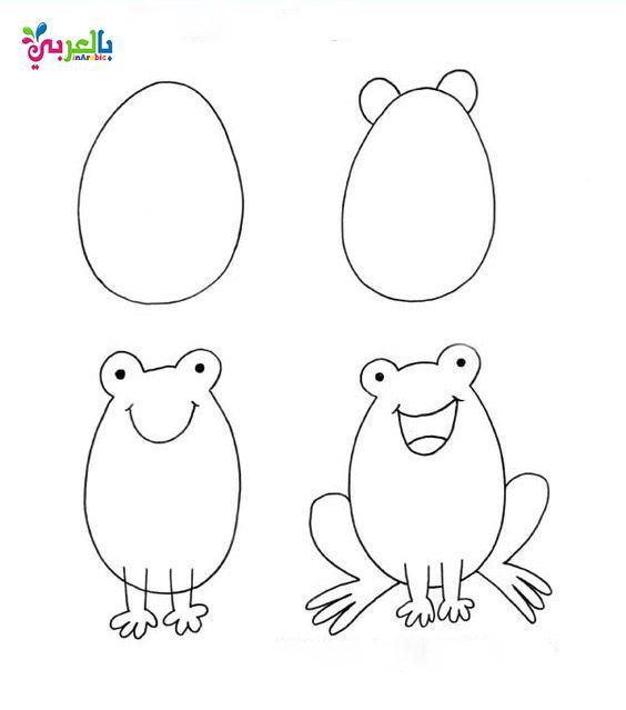 تعليم الرسم للاطفال بالخطوات رسومات اطفال بالعربي نتعلم Easy Drawings Drawing For Kids Cute Drawings