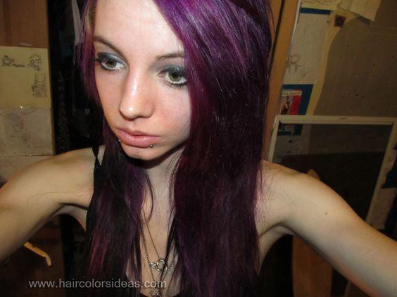 Plum Hair Color Ideas - http://www.haircolorer.xyz/plum-hair-color-ideas-3839