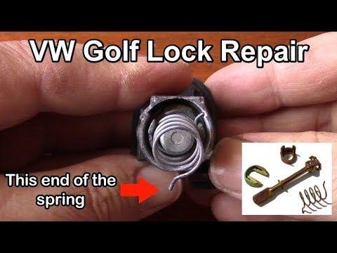 Volkswagen Golf Door Lock Cylinder Repair And Assembly Tutorial Youtube Cylinder Lock Lock Repair Volkswagen Golf