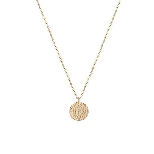 gold filled moon necklace Full Moon Necklace coin necklace