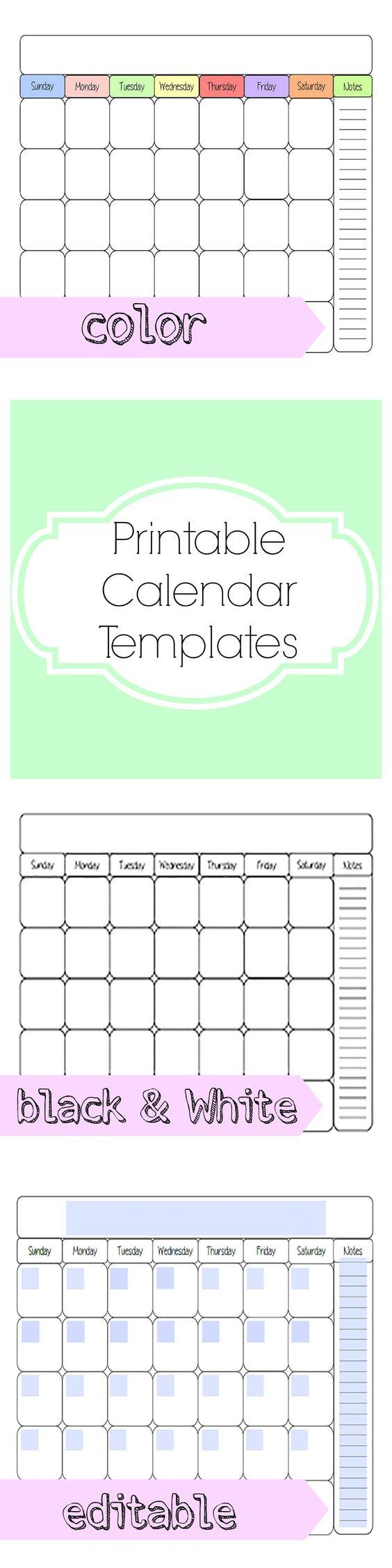 Diy Calendar Format : Calendar template for diy monthly at home work