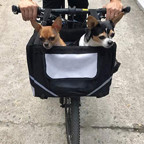 Lovinland Pet Bike Basket Bag Dog Cat Travel Dog Bike Basket