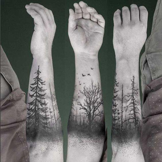 40 hermoso tatuajes de árboles.