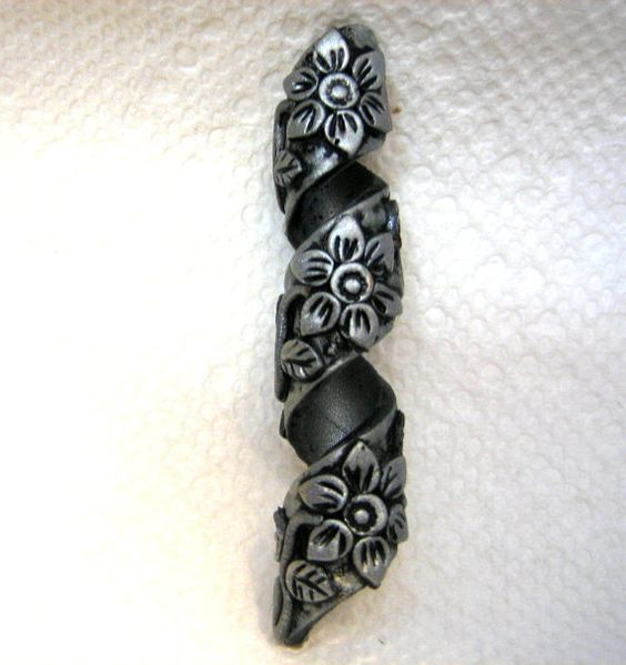 Hey, I found this really awesome Etsy listing at http://www.etsy.com/listing/126630464/dread-bead-silver-flowers-on-silver-coil :: Shop DreadStop.Com for Leather Dreadlock Cuffs, Ties & Dread Beads #dreadstop