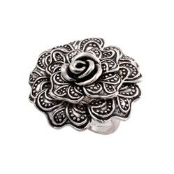 In Bloom ring with a floret design inspired by nature's beauty. $29.00