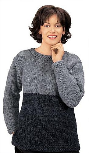 Tunic Sweater Knitting Pattern : Ravelry: Knitted Two-Tone Tunic FREE pattern by Lion Brand Yarn Knitting --...