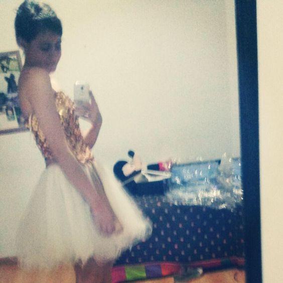 #vestido #dress #gold #white #cute #party #blanco #dorado #fiesta #lindo #corto