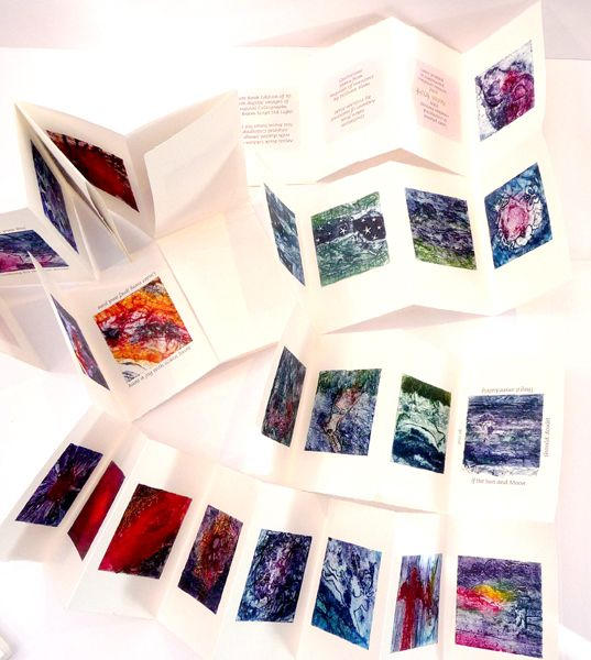 Seen by Moonlight ... 28 collagraphs. Book by Heather Prescott