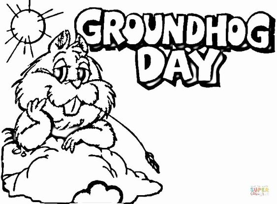 Ground Hog Day Coloring Page Beautiful Groundhog Day Coloring Page In 2020 Super Coloring Pages Groundhog Day Coloring Pages For Kids