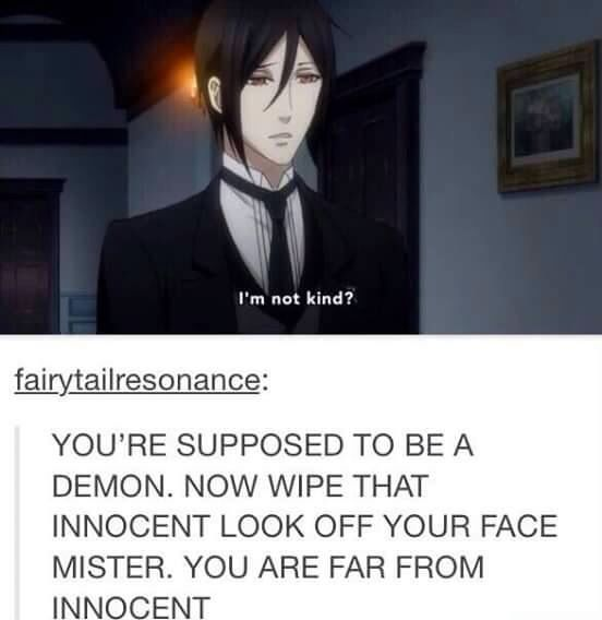 Sebastian tumblr black butler funny
