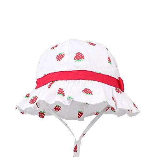 Stay-on Wide Brim Toddler Beach Sun Hat 6M-4Years Old KASULAR Baby Girls Sun Hat Summer Bucket Cap Adjustable for Growth