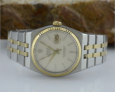ROLEX 17013 OysterQuartz 18k Gold & SS Watch - AS IS - For Parts or Repair https://t.co/SYr5jZq5SR https://t.co/ImrdKdotL7