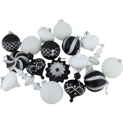 Vickerman 18 Piece Finial Ball and Onion Shatterproof Ornament Set Color: