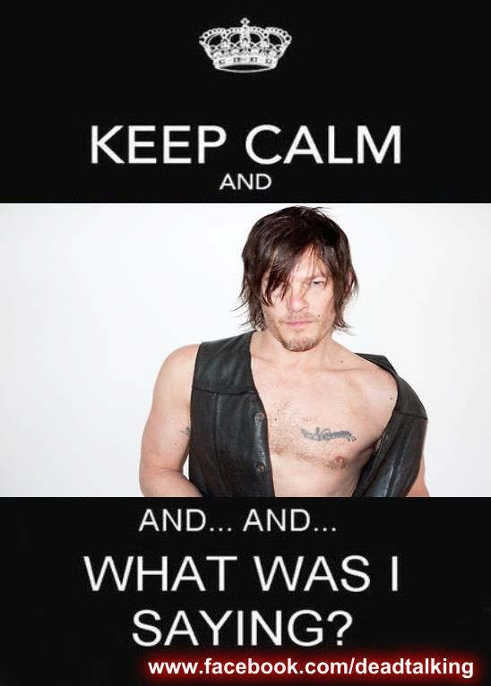 norman reedus half naked? who the hell can keep calm?!