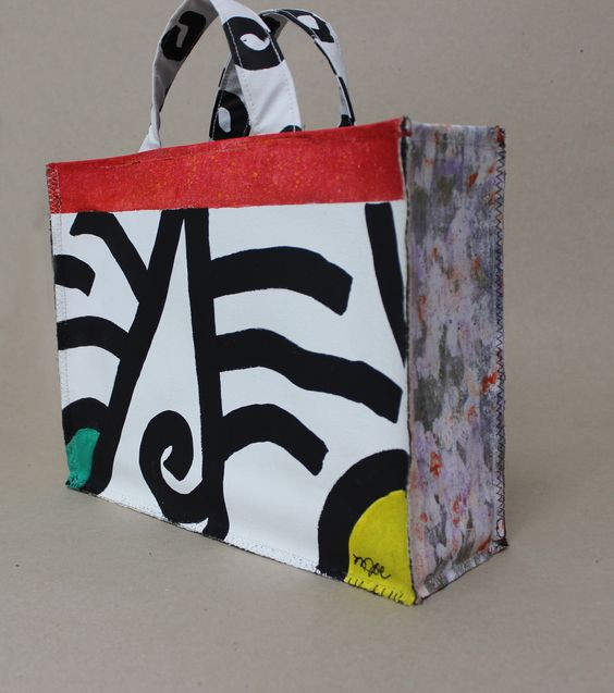 Mamie Joe - Handpainted Canvas Bag