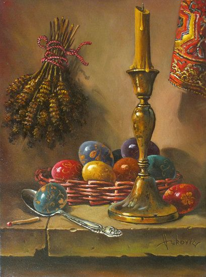 Artwork >> Dusan Vukovic >> Easter - decoraating eggs