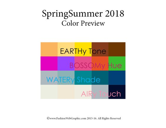 Spring Summer 2018 trend forecasting is a TREND/COLOR Guide that offer seasonal…