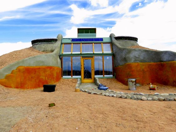 The first Simple Survival Earthship in the Greater World Community in Taos, NM. My home for the summer :)