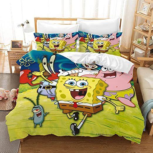 personalized pillow case boys bedroom Spongebob pillow case Kids Bedroom birthday gift Childrens Pillow Case Toddler Room Baby Room