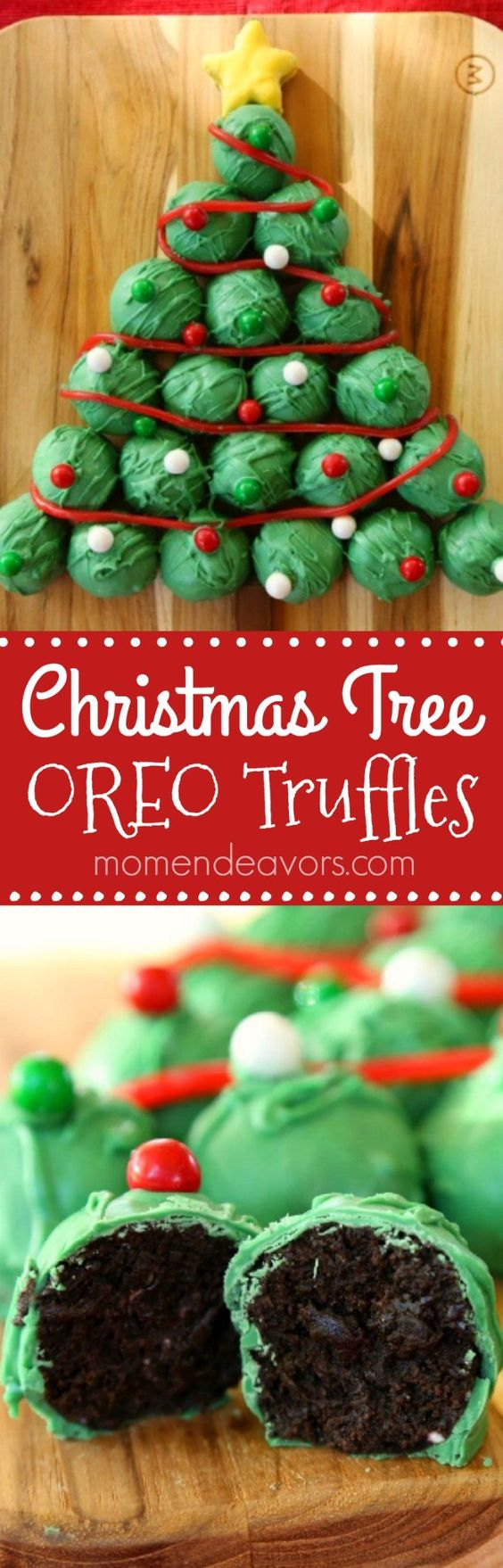 OREO Truffles Christmas Tree - an easy & delicious no-bake holiday treat!