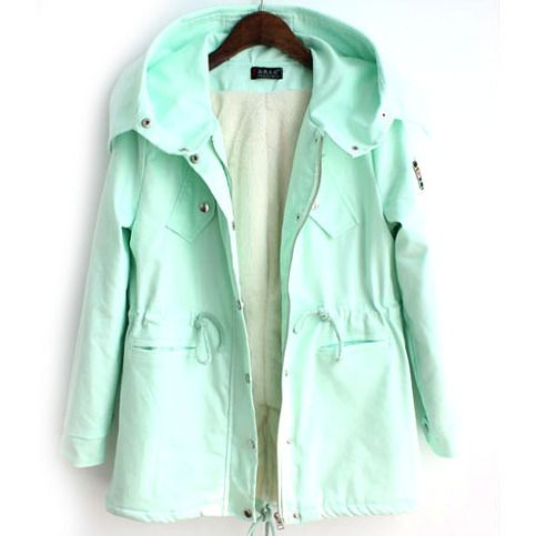 Oh my goodness I want it! green pink winter coat @Wen Duan Duan