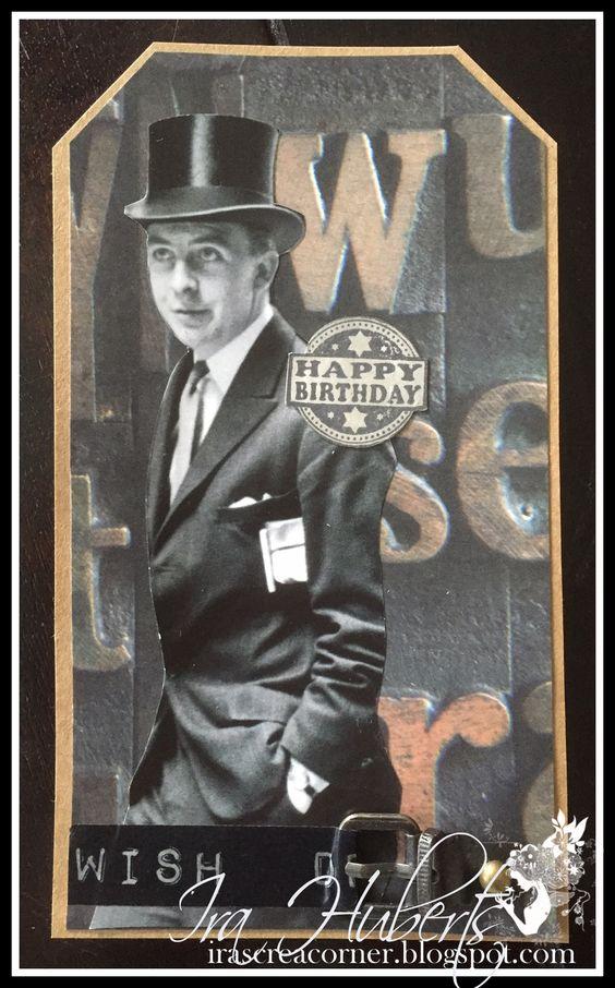 Male vintage card