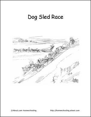 iditarod map coloring pages - photo#9