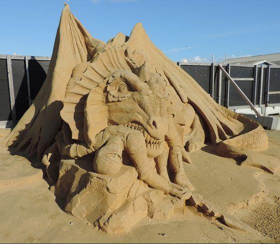 FC Glad og Frisk 1038  Sand Sculpture Hundested 2015