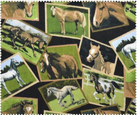 Fleece Horse Blanket Twin Size 1 by OutWestCreations4U on Etsy, $35.00