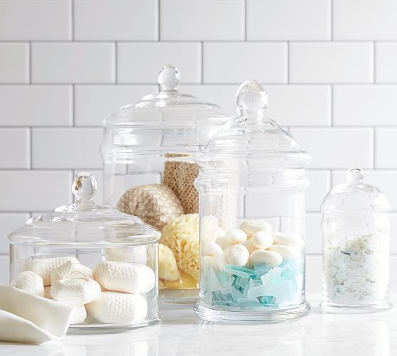 Pb Classic Glass Bath Canister Glass Canisters Large Glass Jars