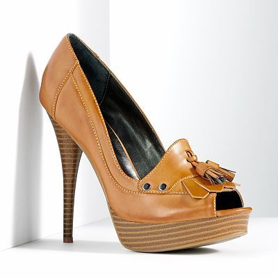 Simply Vera Vera Wang Peep-Toe Platform High Heels - Womens
