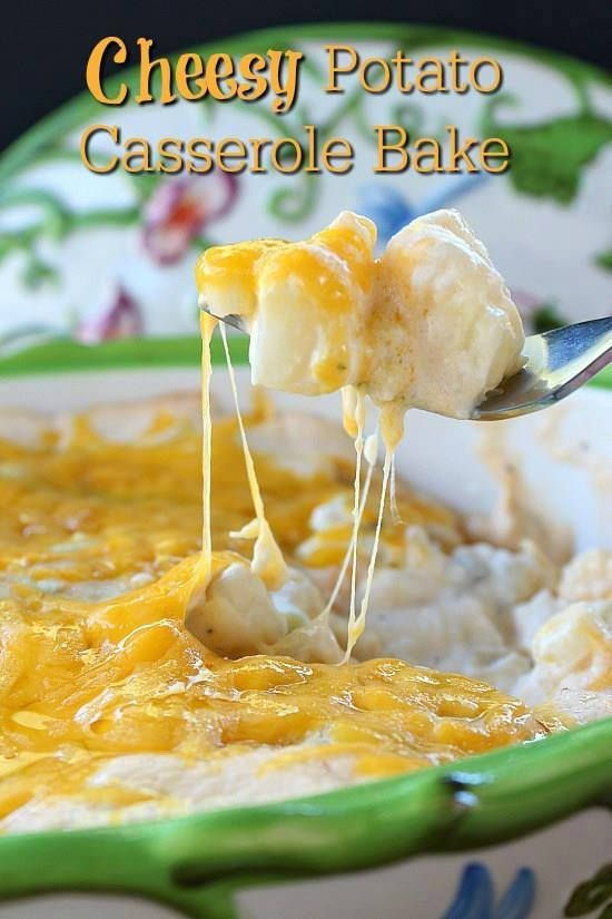 🌿❤️🌿CHEESY POTATO CASSEROLE🌿❤️🌿 This cheesy potato casserole bake is the perfect side dish! The flavor is amazing and all the delicious cheese makes this potato dish one that your family will wan…
