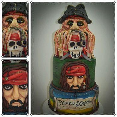 Bolo Piratas do Caribe