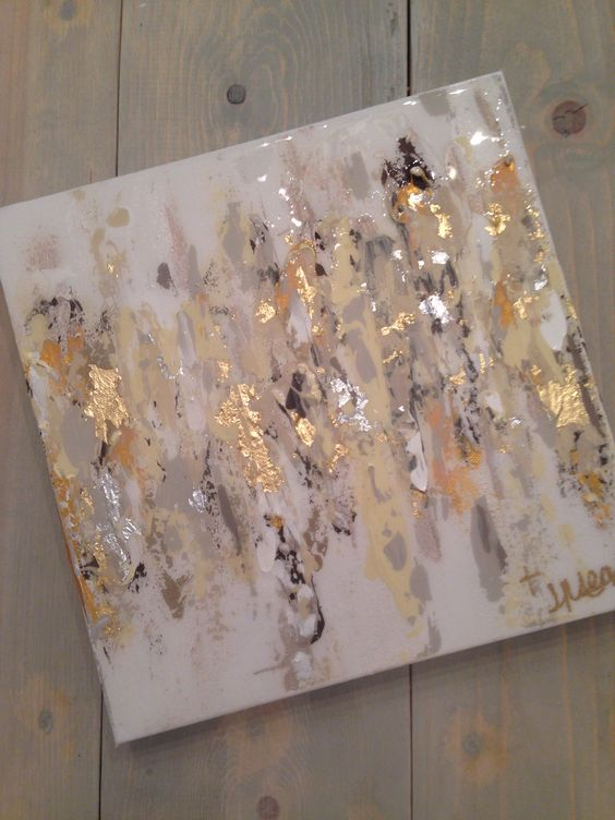 Abstract art on canvas by jenn meador 100 12 x12 email for Gold paintings on canvas