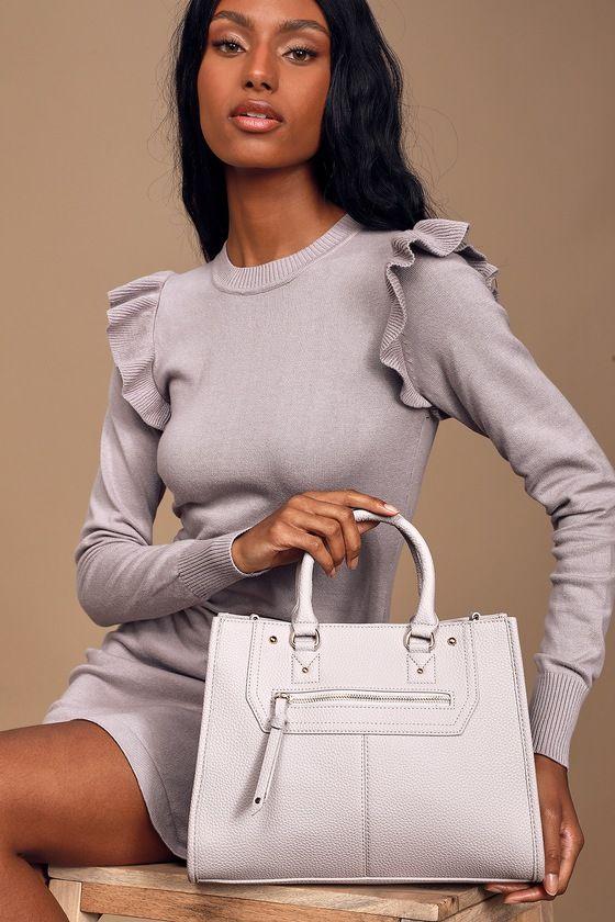 Mega Haute Grey Handbag