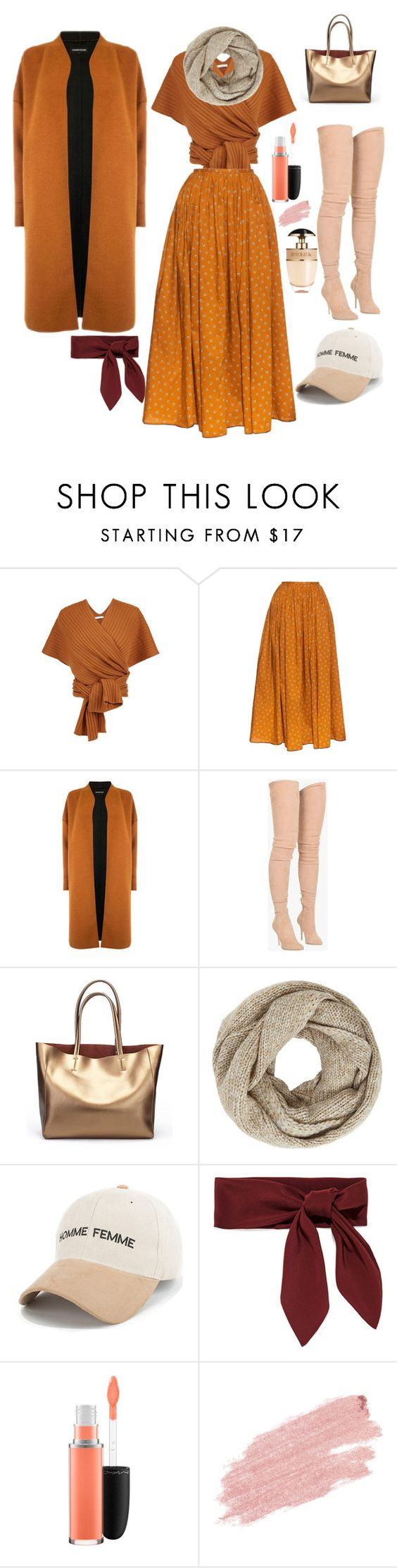 """Fall Coloura"" by krisalynj ❤ liked on Polyvore featuring TIBI, Thierry Colson, Warehouse, Balmain, John Lewis, Chloé, MAC Cosmetics, Jane Iredale and Prada"
