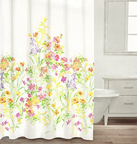 Green Curtains amazon green curtains : Caro Botanical Nature 100% Cotton Shower Curtain Floral Branches ...
