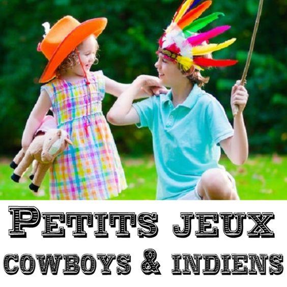 Jeux d'anniversaire simples sur le thème des cowboys et des indiens