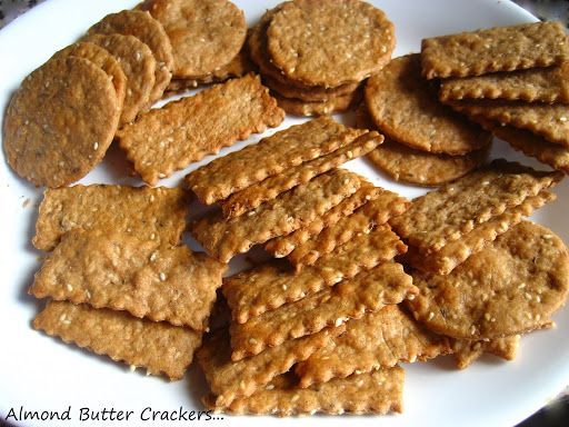 Home Cooking In Montana: Almond Butter Wheat Crackers...wholesome version.
