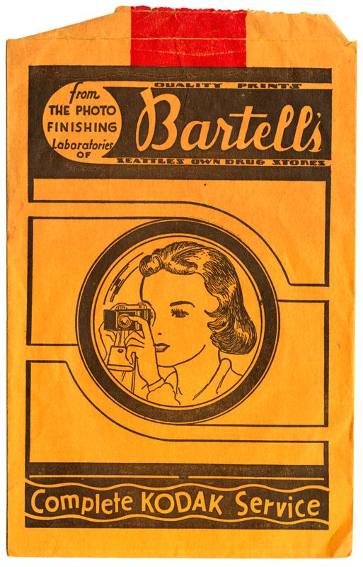 Bartell's Drug Store photo envelope, Store 5, 1336 Second Ave, Seattle,  dated 3/5/49   Vintage Corner   Pinterest