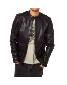 Black Biker Leather Jacket by styloleather.com