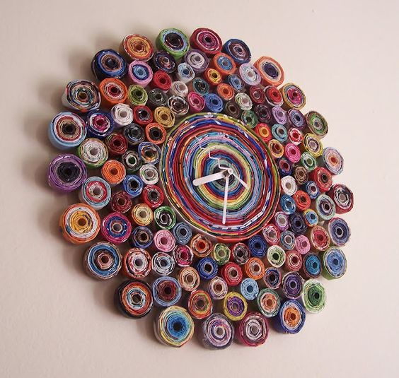 repurpose relove: Recycled Magazine Clock:
