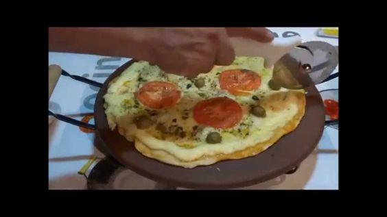 Pizza no Forno Utilizando Pedra Refratária Gourmet