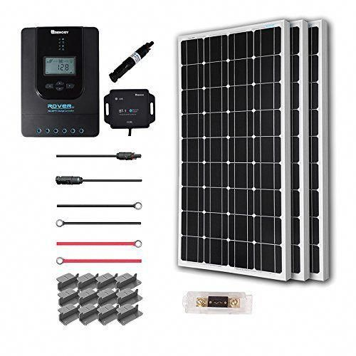 Renogy 300 Watt 12 Volt Off Grid Solar Kit Premium With Solar Panel In 2020 Solar Energy Panels Monocrystalline Solar Panels Solar Kit