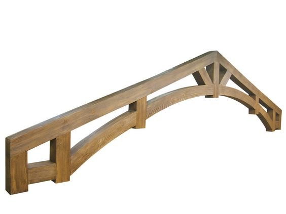 Truss arched wood trusses made of faux wood are for Faux wood trusses
